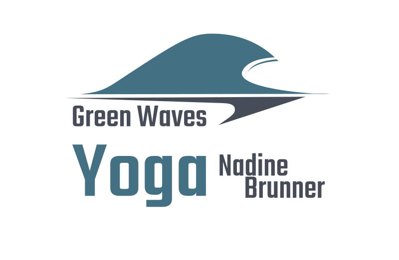 Logo green waves yoga